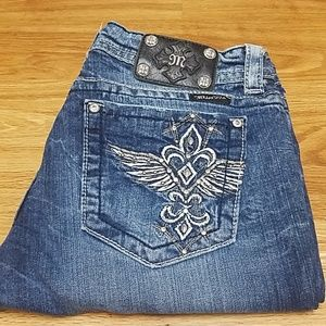 Miss Me Jeans Angle Wings 31 JE5321BR Boot